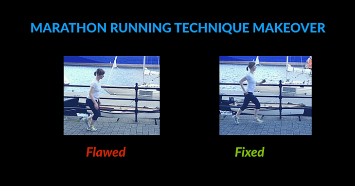 female running technique flawed then fixed by makeover