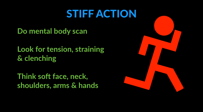 running technique tips for stiff action