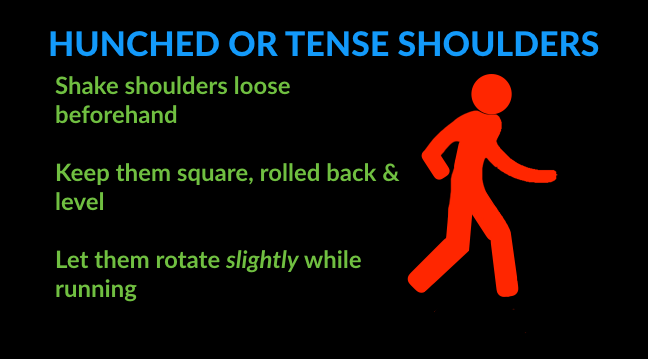 running technique tips for tense shoulders