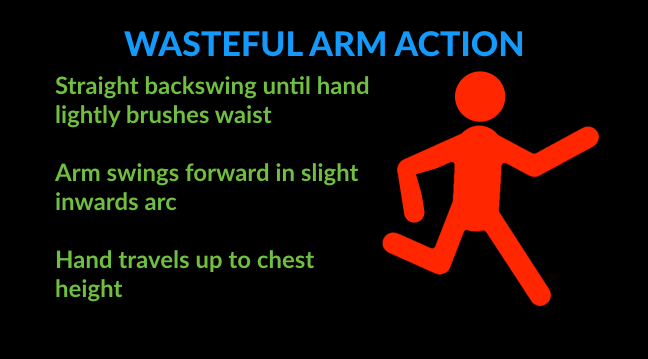 running technique tips for wasteful arm action
